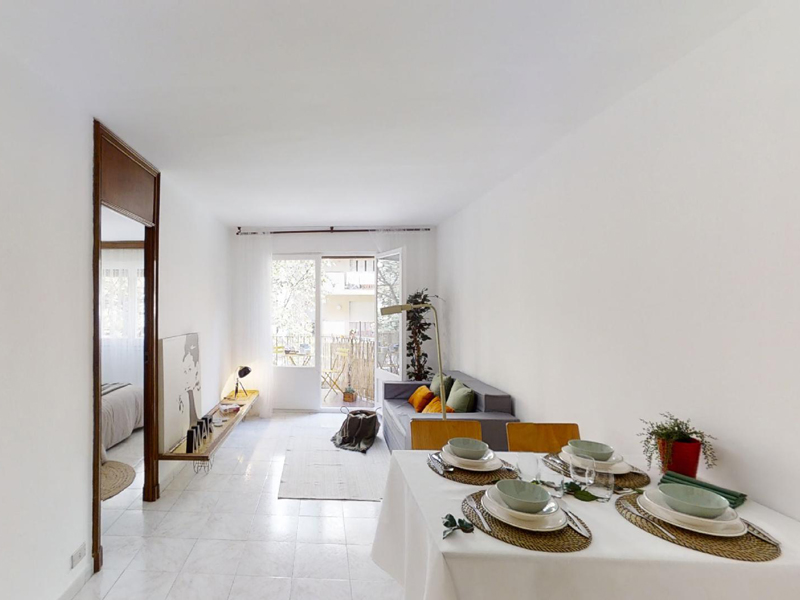 home staging comedor piso eixample